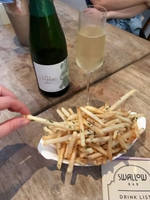 Cava & Frites at Swallow Bar