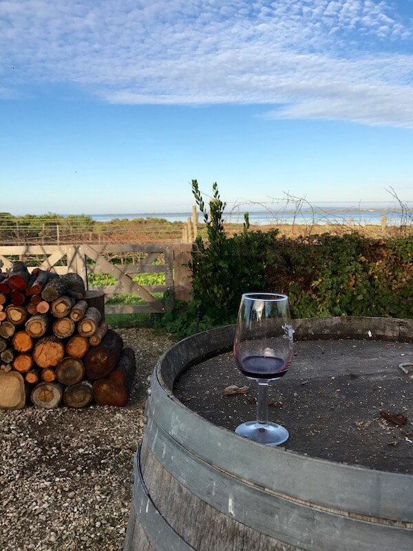 Basils Farm - Glass of Red - Bellarine Wineries