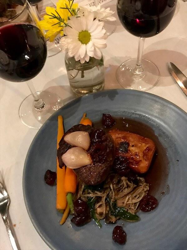 Eye Fillet Steak at the Vasse Felix Wine Dinner at the Inglewood Hotel
