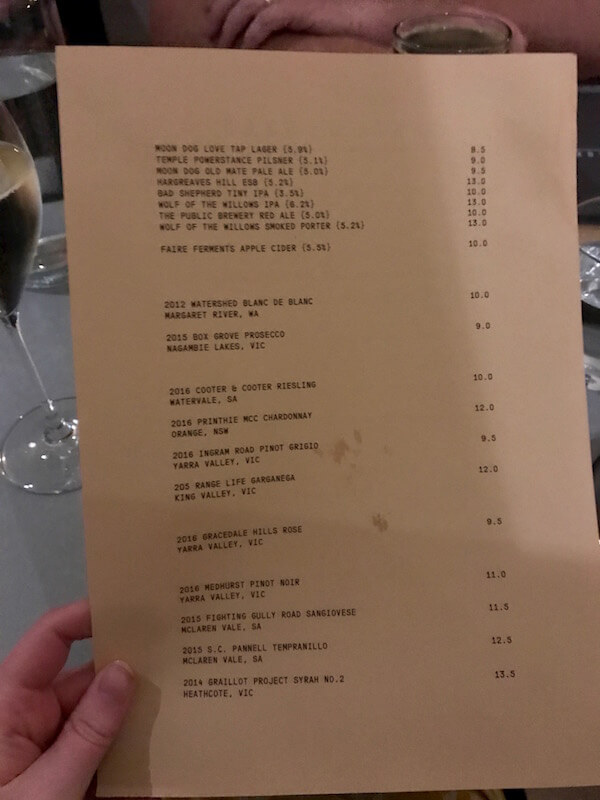 Wines by the Glass - Shadowboxer Bar & Kitchen Melbourne