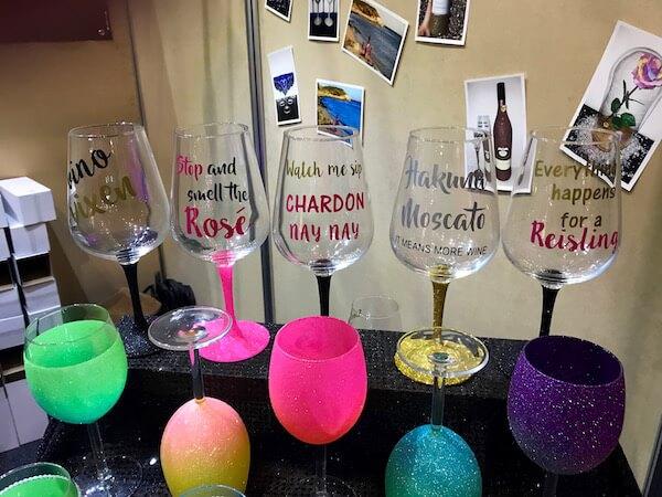 Glass That Glitters Wine Glasses at Good Food & Wine Show Perth
