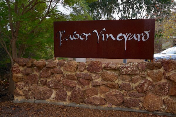 Faber Vineyard Sign - Swan Valley Winery