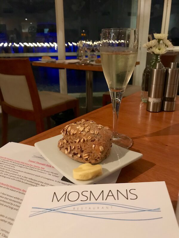 Mosmans Restaurant - Bread and Prosecco