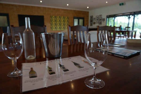 Wine Tasting inside at Faber Vineyard - Swan Valley