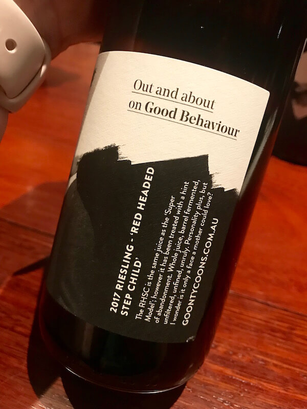 Goon Tycoons - Red Headed Step Child Riesling - Urban Wine Walk Perth