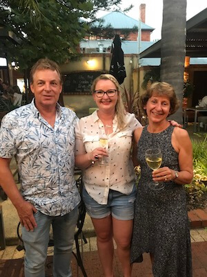 Joanne & John Bradbury from 3 Drops Wine with Travelling Corkscrew