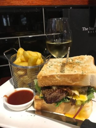 Steak Sandwhich at the Star Hotel in Sale, Victoria