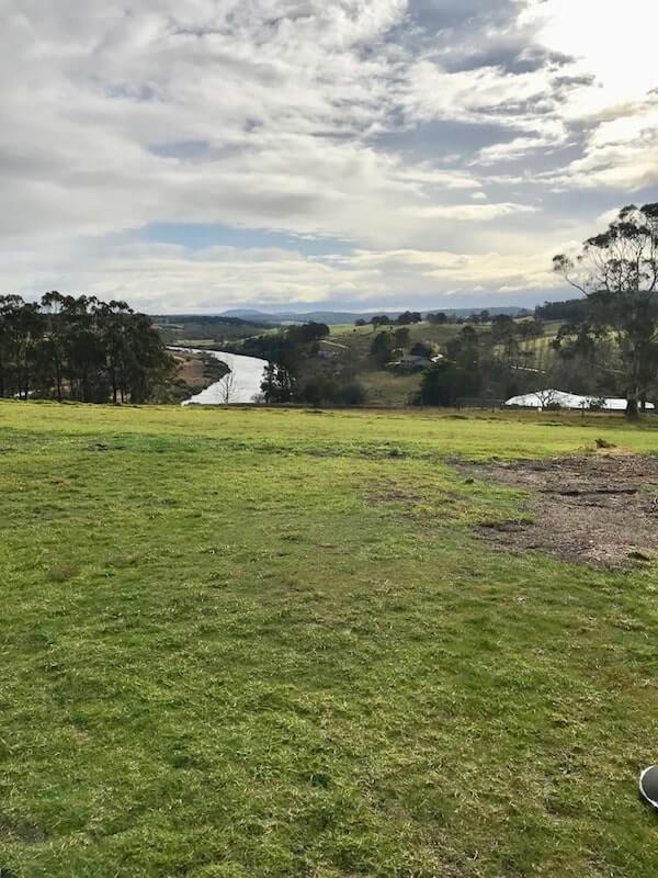 View from Nicholson River Winery - East Gippsland