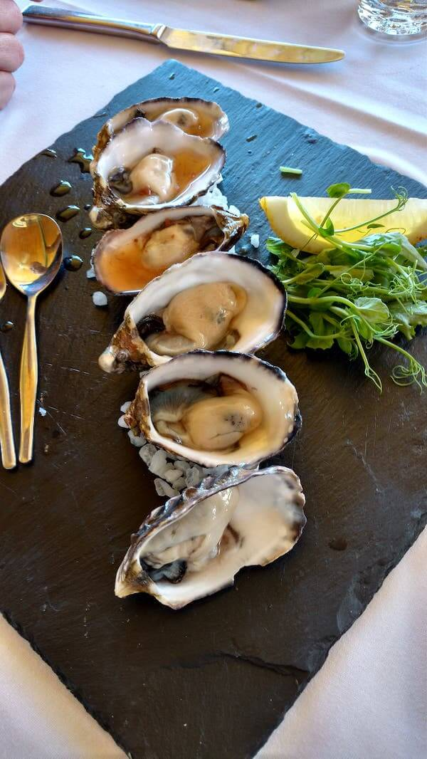 Oysters at Sittella Winery Swan Valley