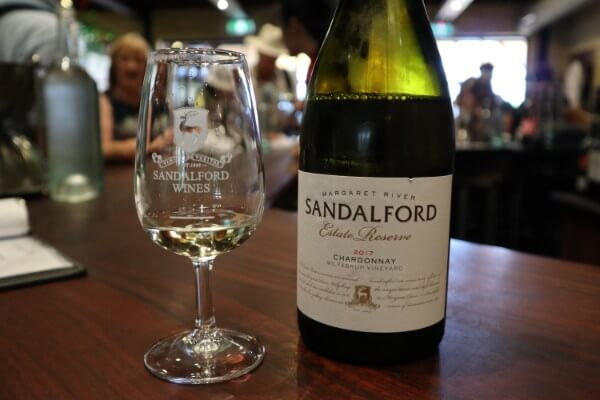 glass-and-bottle-of-estate-reserve-chardonnay-at-sandalford-winery-swan-valley
