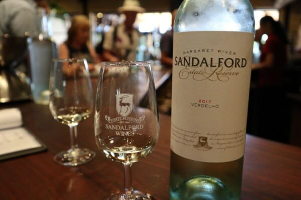 glass-and-bottle-of-estate-reserve-verdelho-at-sandalford-winery-swan-valley