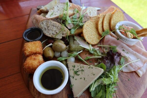 platter-of-food-on-a-wooden-board