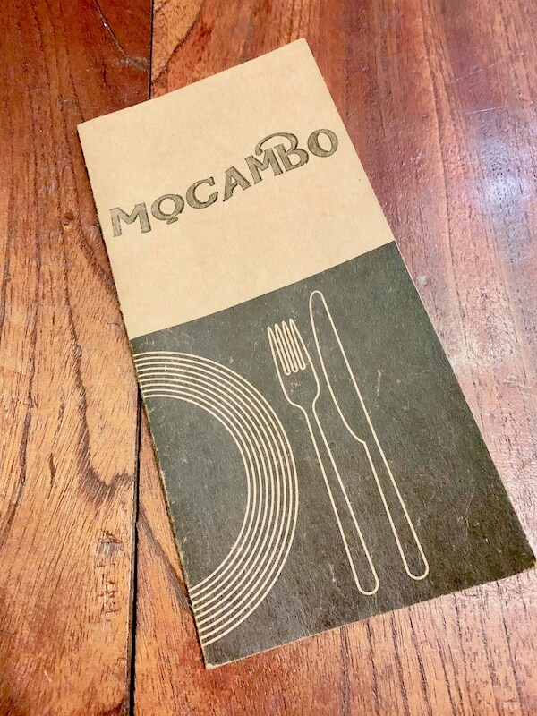 Mocambo Wine Bar Bangkok Menu