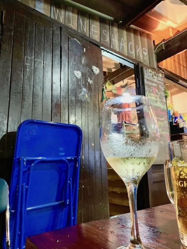 Wine at Jacks Bar in Bangkok