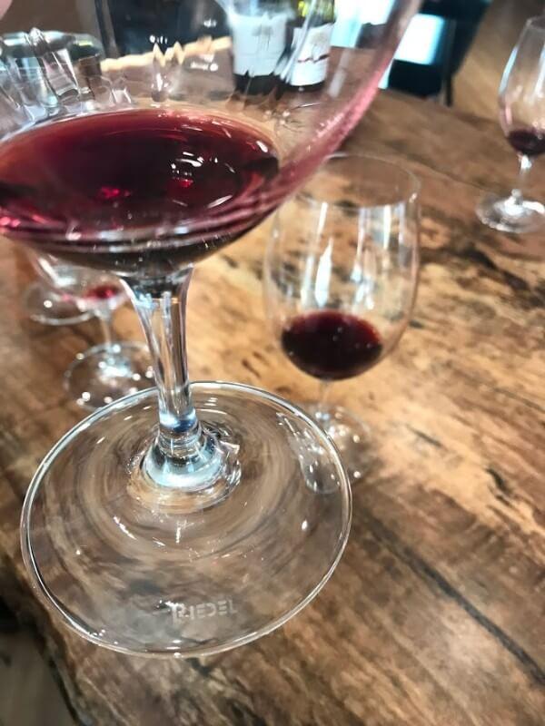 glass of riedel at howard park urban cellar door