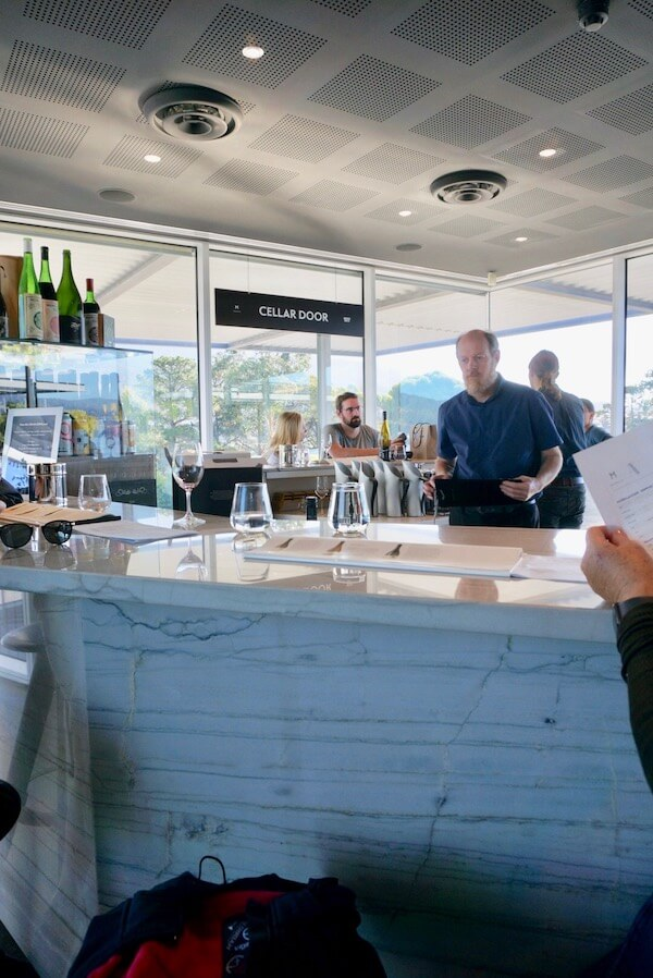 Moorilla Cellar Door at Mona Tasmania