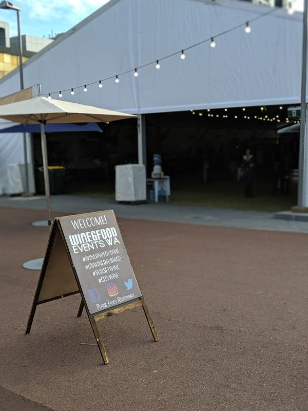 welcome to wine and food events wa blackboardsign