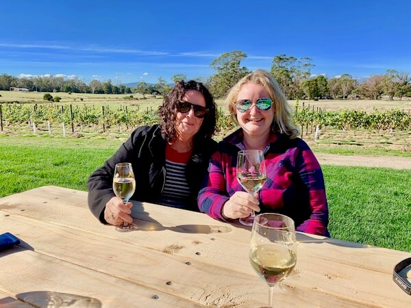 Casey & Pauline at Cabbage Tree Wines - Tamar Valley, Tasmania