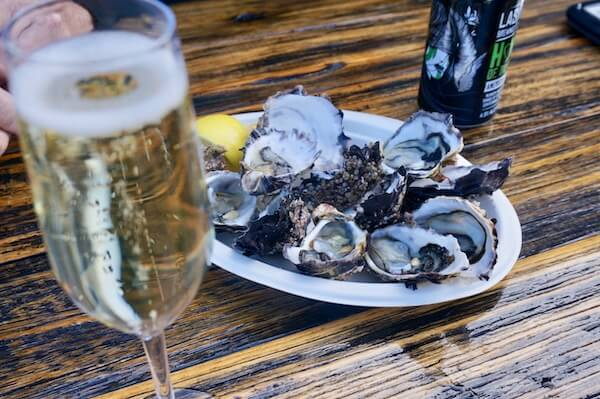 Oysters at Devil's Corner - Tasmania Wineries