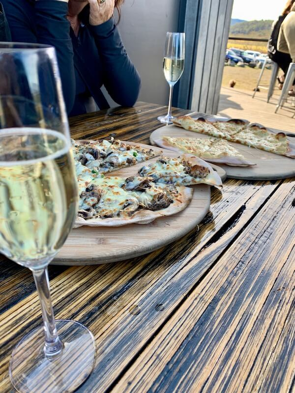 Pizzas at Devil's Corner - Tasmania Wineries