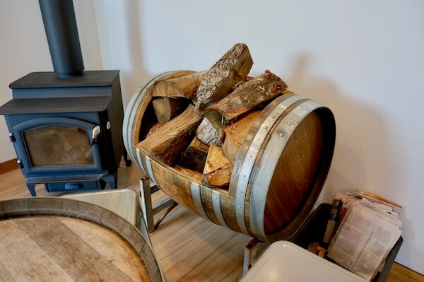 Wine Barrel for Firewood - Velo Wines Tasmania