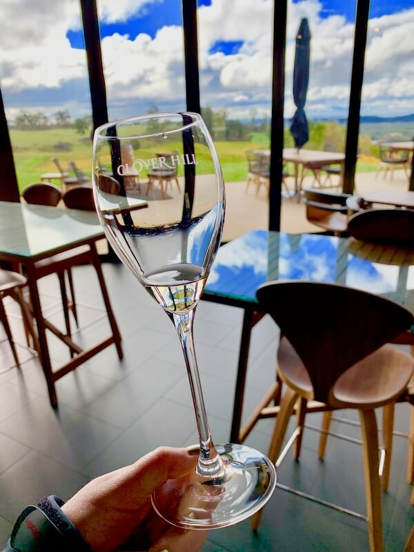 Wine tasting at Clover Hill - Tasmania Wineries