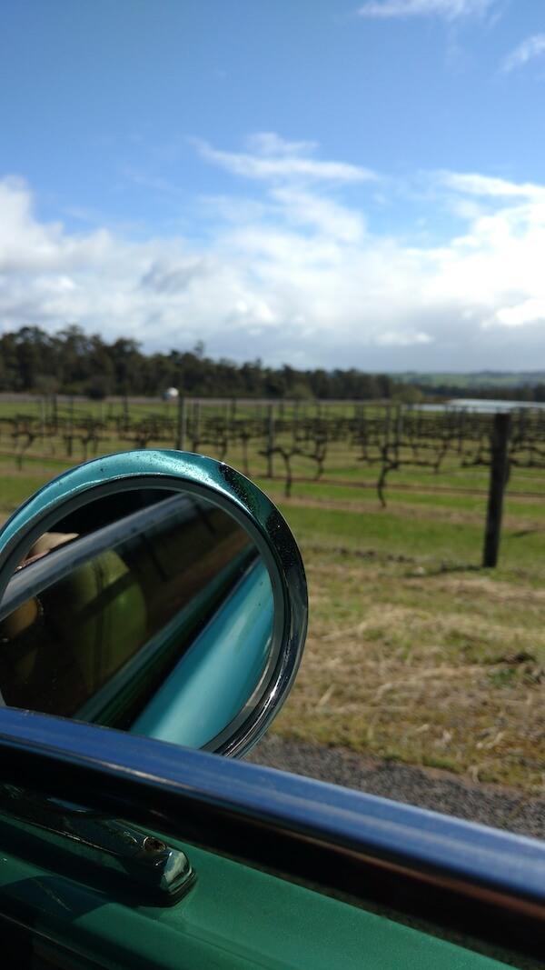 Barrecas Mustang mirror view