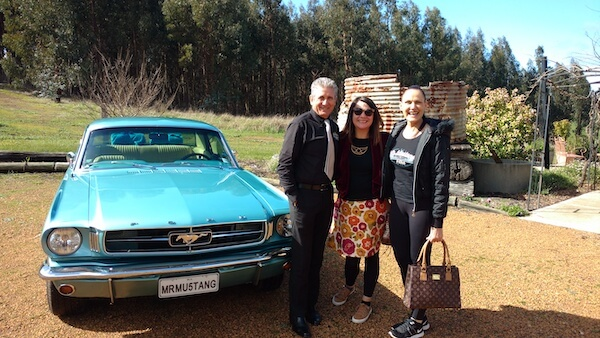 N with Vince and Karen - Mr Mustang Hire