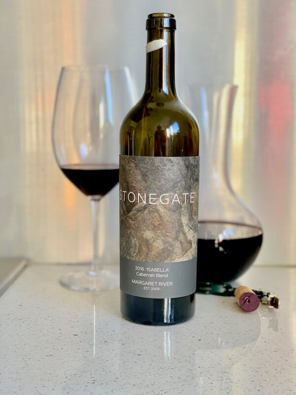 Stonegaze Vineyard 2016 Isabella Cabernet Blend - Margaret River - Decanter and Wine Glass