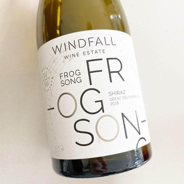 Windfall Wine Estate 2018 Frog Song Shiraz - Great Southern