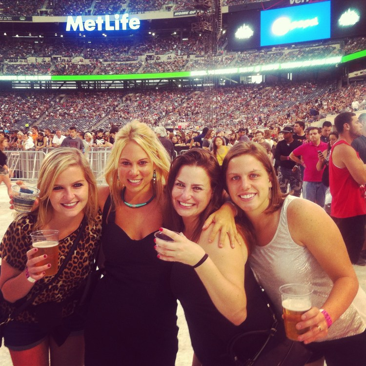 Some of my incredible friends having a night out at the Eminem and Rihanna Concert.