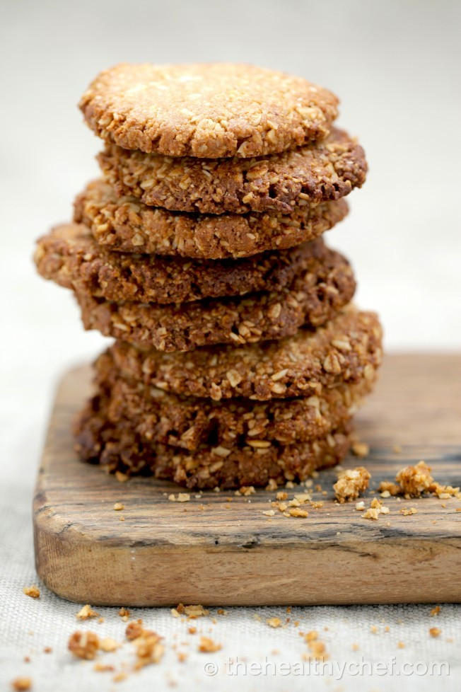 anzac-biscuits-the healthy chef