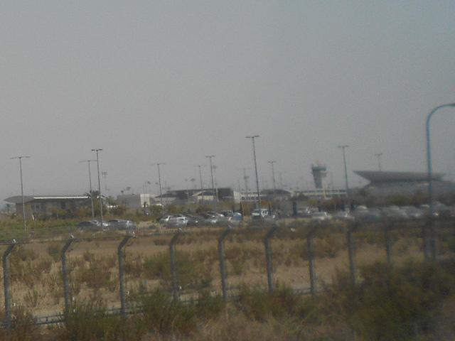 Vista del Aeropuerto desde el tren