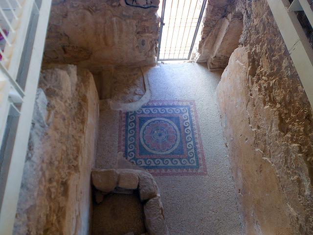 Fortaleza de Massada, baño romano convertido en ritual judío, Israel