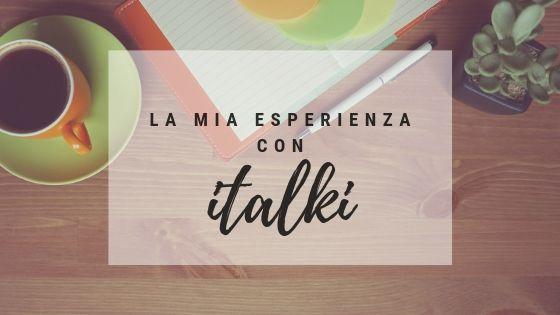 La mia esperienza con italki
