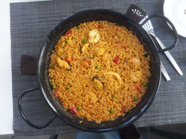 Delicious paella I had for lunch in Vigo in Spain