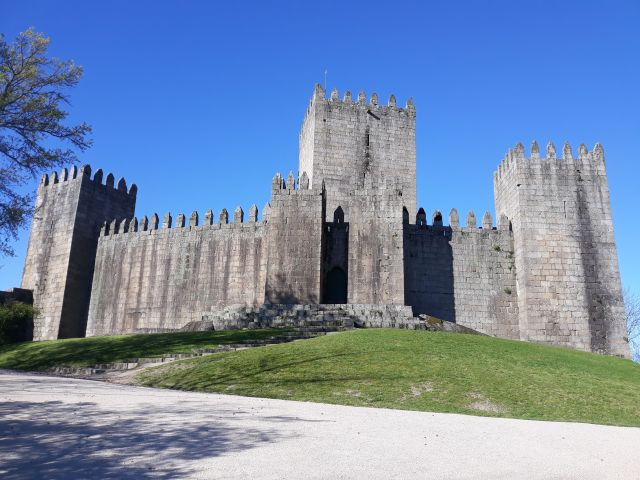 The majestic Castle of Guimarães in Portugal