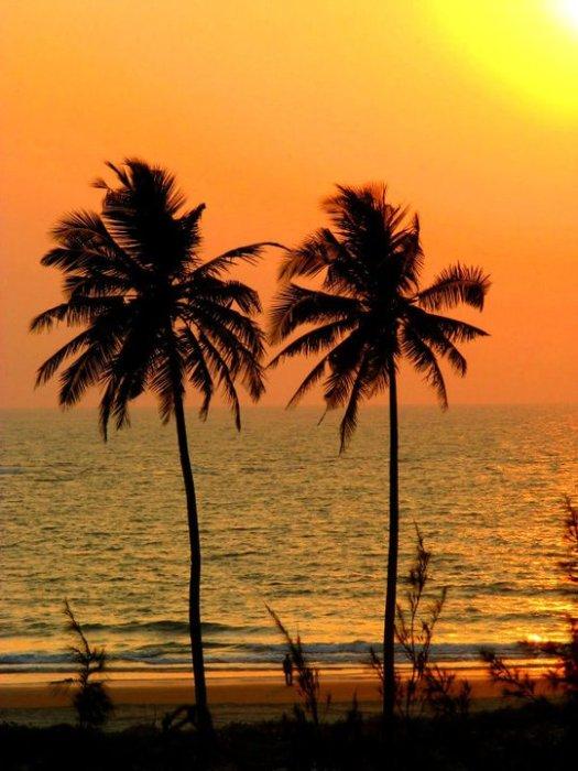 Sunset in Goa, travel photos