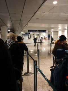 Airport leak in Montreal waiting for taxi
