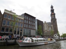 Anne Frank House from canal cruise