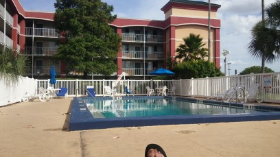 The 1st and only time by the pool