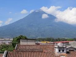 Volcano overlooking the town