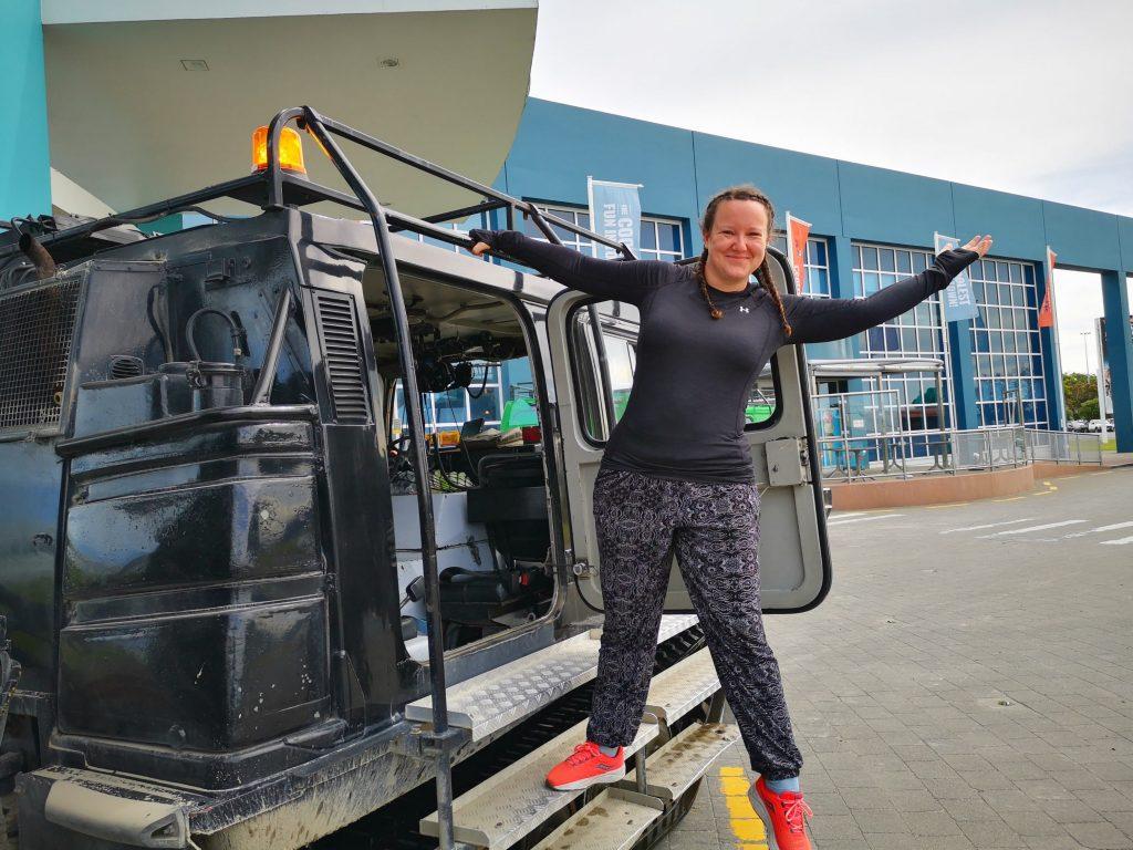 Hägglund rides at the international antarctic centre