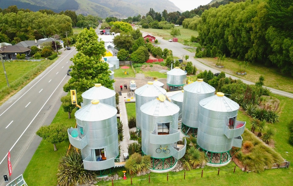 drone view of SiloStay