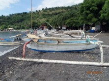 Amed beach, Bali. Can you believe I dove from one of these outriggers?