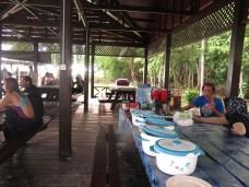My resort's 'table' on Sipadan Island. Food is brought from the resort on Mabul.