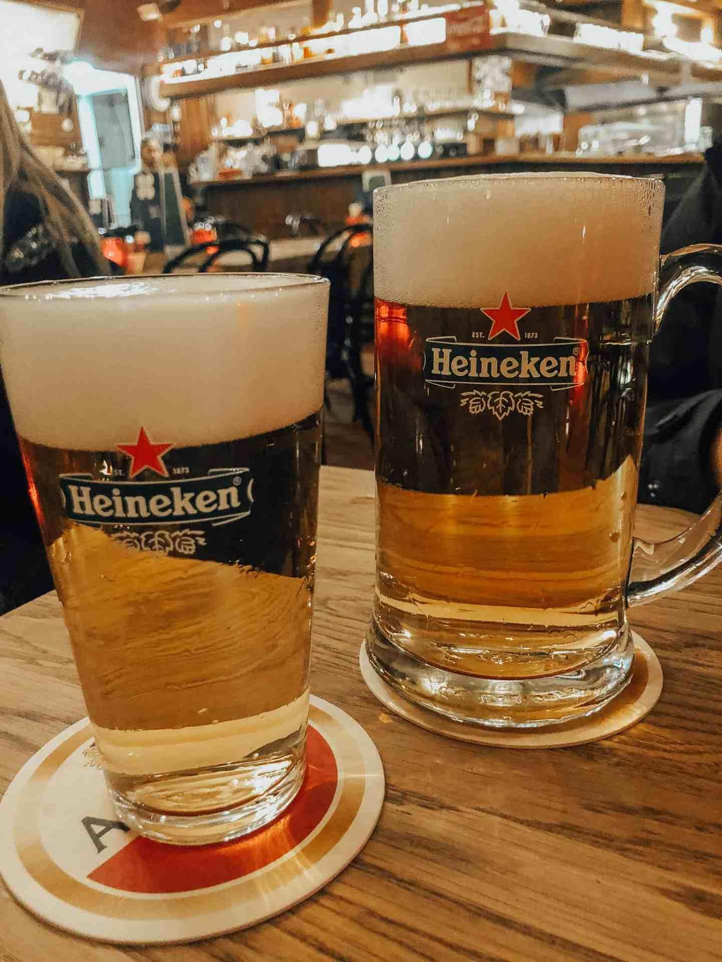Heineken's to end the walking tour
