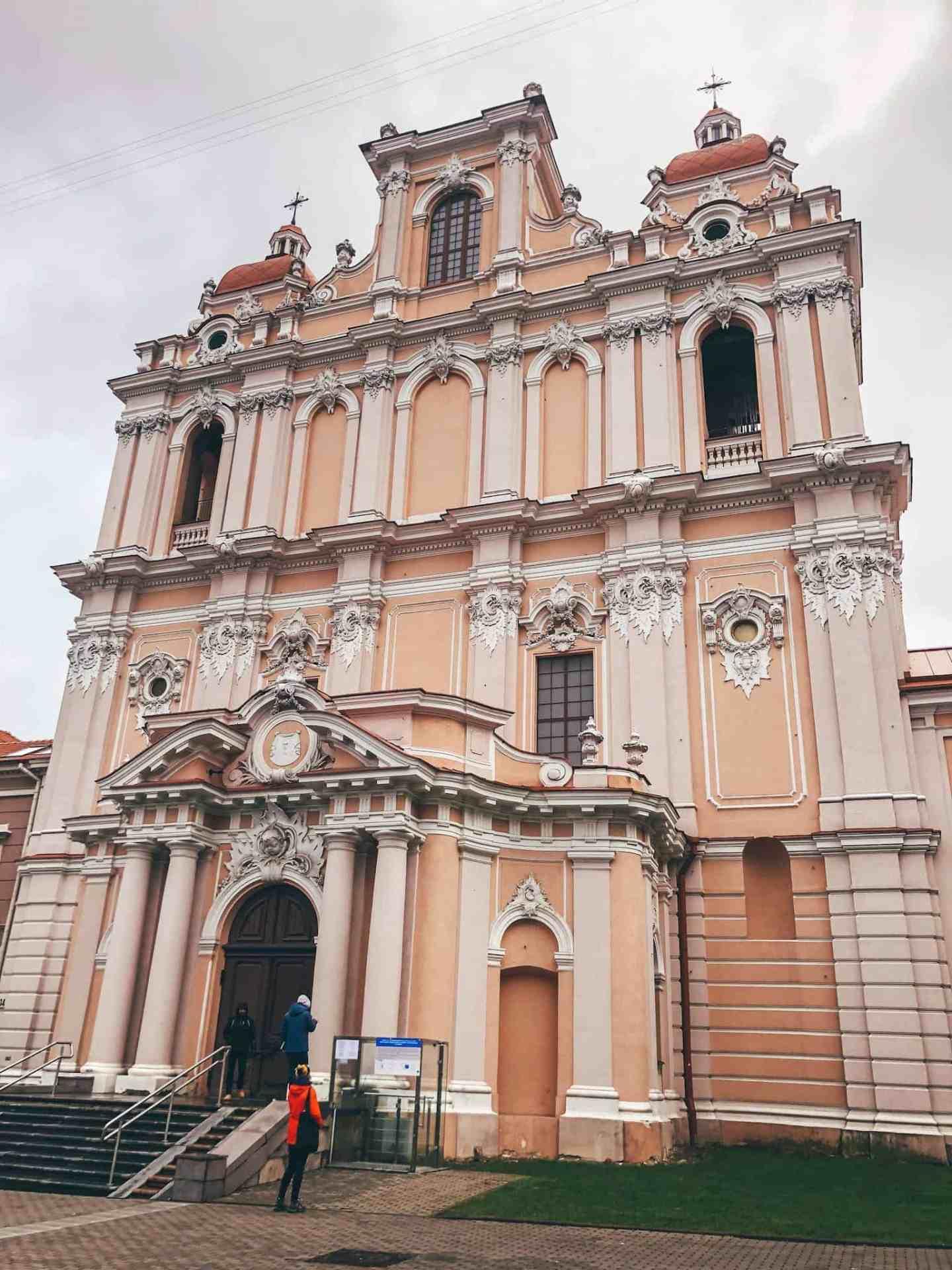 A pink church