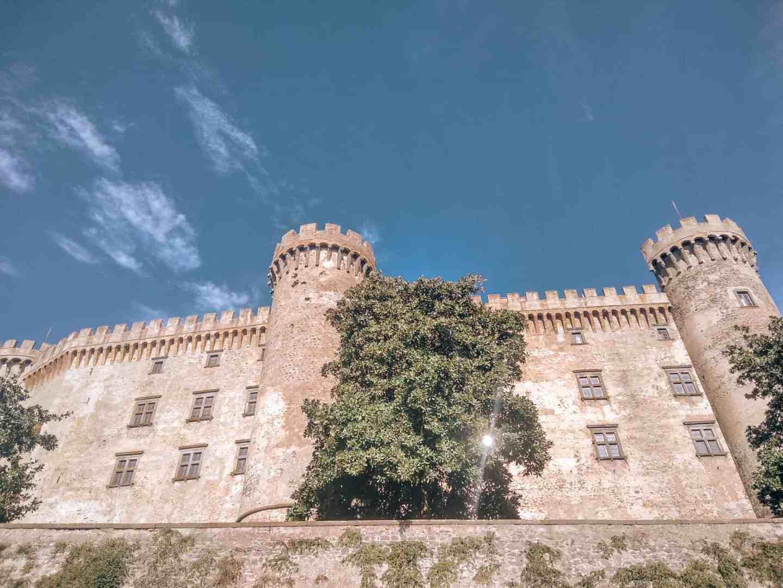 A white castle in the sun