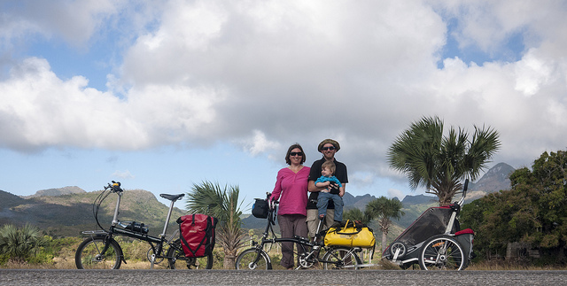 On tour in Cuba with our Brompton and Dahon folding bikes.